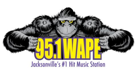 95.1 WAPE - Jacksonville's #1 Hit Music Station Logo
